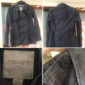 American eagle blue button up jacket szS